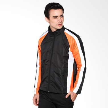 Corvus Sansa Jaket Motor - Black Stripe White and Orange  M  Original 6f34dafb60
