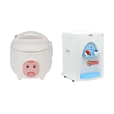 Cosmos CRJ-101 Rice Cooker + Cosmos CWD 1150P Blue Water Dispenser