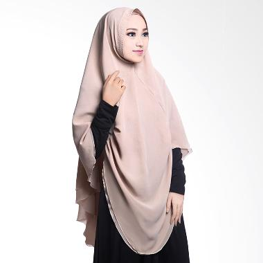 Cotton Bee Khimar Draperry Hijab Syar'i - Nude Creme