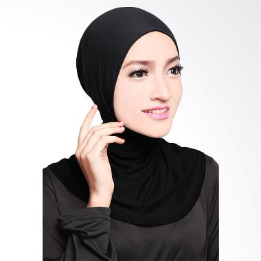 Cotton Bee Antem Sleting Hijab - Black