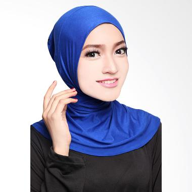 Cotton Bee Antem Sleting Hijab - Electric Blue