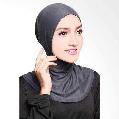 Cotton Bee Antem Sleting Hijab - Dark Grey