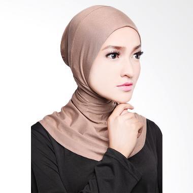 Cotton Bee Antem Sleting Hijab - Light Brown