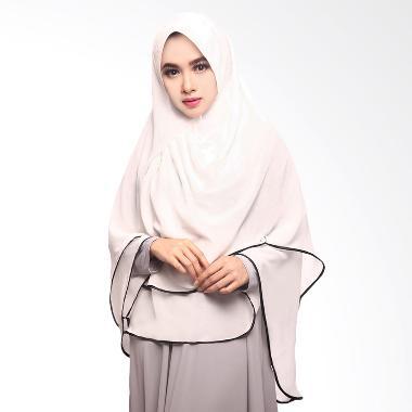 Cotton Bee Khimar Aliqa Hijab Putih Tulang