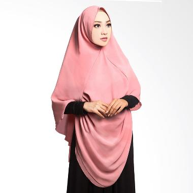 Cotton Bee Khimar Draperry Hijab Syar'i - Dusty Pink