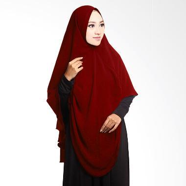 Cotton Bee Khimar Draperry Hijab Syar'i - Maroon