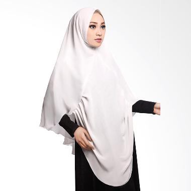 Cotton Bee Khimar Draperry Hijab Syar'i - White