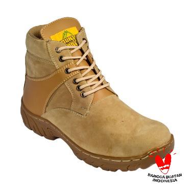 Country Boots Safety Boots Tactical Sepatu Pria - Cream