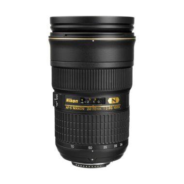 Nikon AF-S 24-70mm f/2.8G ED Hitam Lensa Kamera Citra Photo Lovers