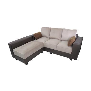 Creova Sofa L Style Pandora - Coklat