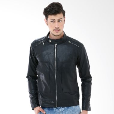 Crows Denim SK26 Black Jaket Pria   ...