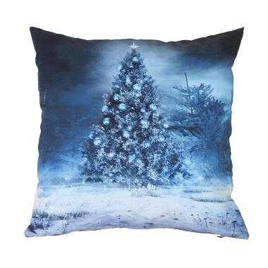 Curated Home CUSHION COVER WITH INSERT - BLUE CHRISTMAS (45cm x 45cm)