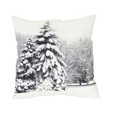 Curated Home CUSHION COVER WITH INSERT - WHITE FOREST (45cm x 45cm)