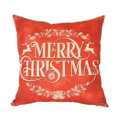 Curated Home CUSHION COVER WITH INSERT - MERRY CHRISTMAS (45cm x 45cm)