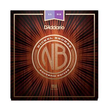 harga D'Addario NB1152 Nickel Bronze String Acoustic 1152 Custom Lite Senar Gitar Blibli.com
