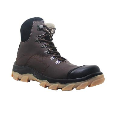 Cut Engineer Safety Boots Lining Fosfor Leather - Cokelat