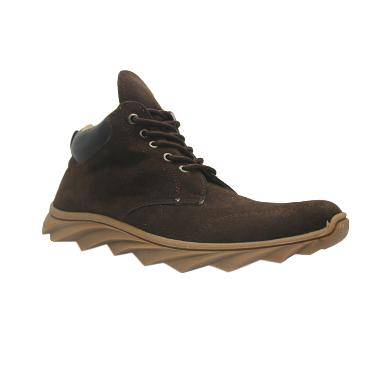 D-Island Shoes Boots England Sneakers Suede - Dark Brown