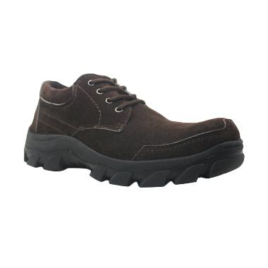 Cut Engineer Safety Shoes Low Boots Top Cokelat Sepatu Pria