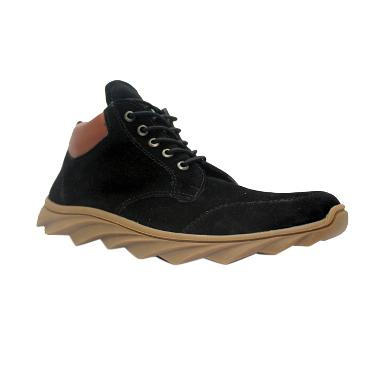 D-Island Shoes Sneakers Boots England Suede - Black