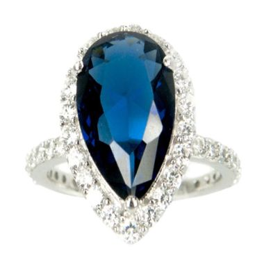 ANZ Day - Dparis Tapered Oval Blue Saphire Cincin