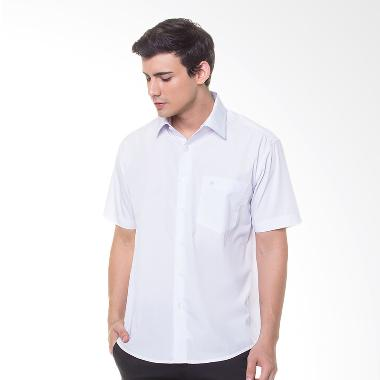 Damon H11753 (S/S) Polos Kemeja Tangan Pendek - White
