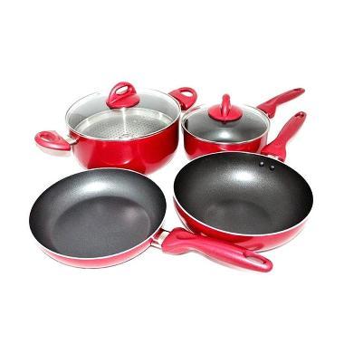 Supra Rosemary Panci Set 7 Pieces - Merah