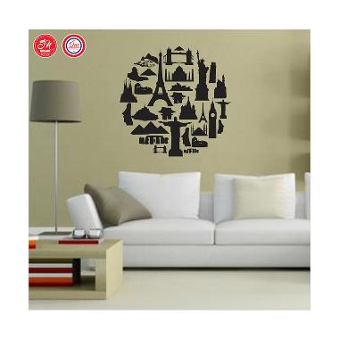 Decal City in the World Wall Sticker