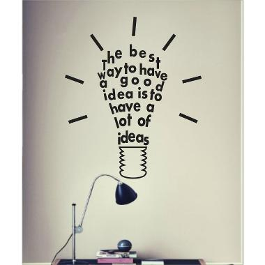 Decal Lamp Idea Wall Sticker