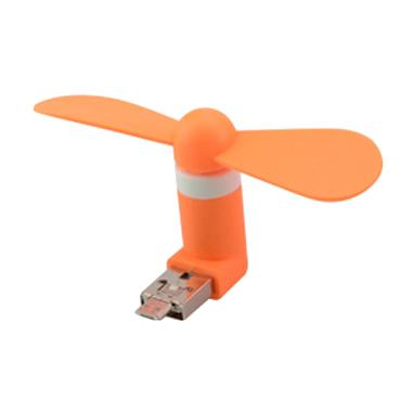 Delcell OTG USB Mini Fan Portable Kipas Angin - Orange