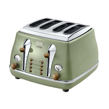 Delonghi CTOV 4003 GR Toaster - Hijau [4 Roti]