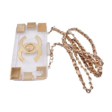 Delcell Back Cover and Chain Model Chanel Bag iPhone 5 dan 5s - Emas