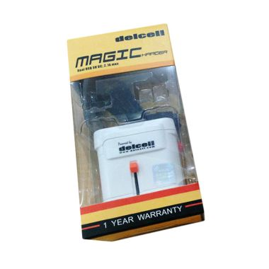 Delcell Magic Charger Adaptor Dual USB Port 2.1A