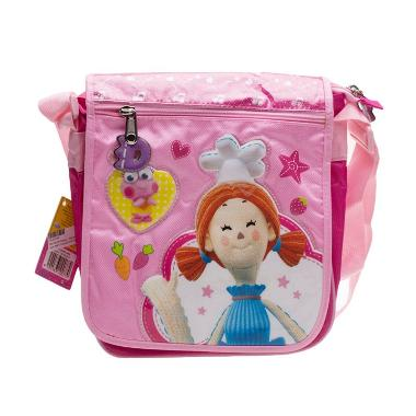 Dibo The Gift Dragons Annie Pink Sling Bag Tas Anak [9.5 Inch]