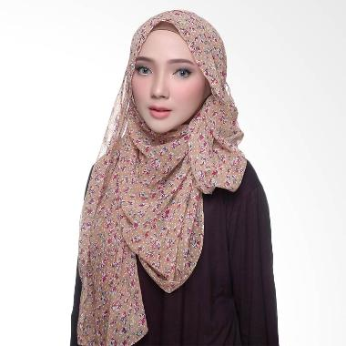 Diindri Hijab Brown Flo Pashmina