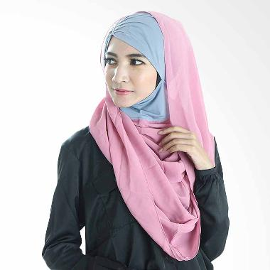Diindri Hijab Royal Anisa Hoodie Hijab Instan - Grey Pink