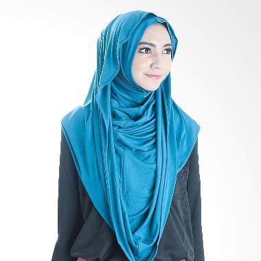 Diindri Hijab Royal Hoodie Hijab Instan - Blue
