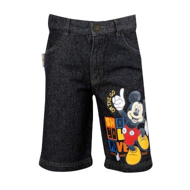Disney Mickey Mouse Short Pant Jeans Black Celana Anak