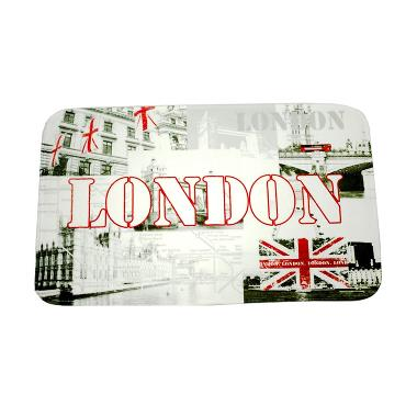 Dixon Motif Negara London Flag Keset Busa - Multicolor [45 x 75 cm]