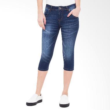 People's Denim Jeans Raven 7/8 Slim Fit Celana Wanita - Biru