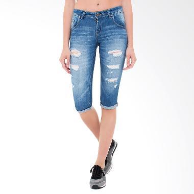 People's Denim Ladies Arwen Ripped RU Skinny Fit Celana Wanita - Biru