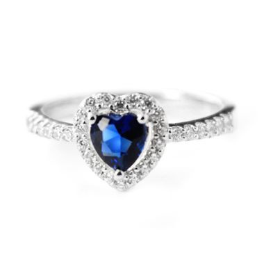 Dparis Blue Heart Ring Silver Cinci ...