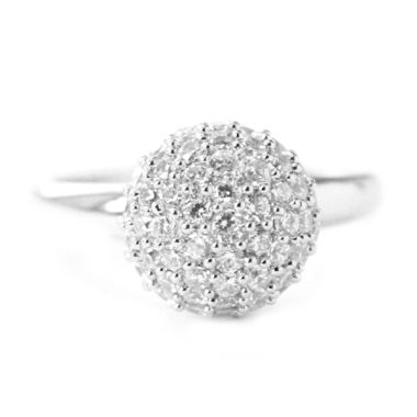 Dparis Round Cut Diamonds Ring Silv ...