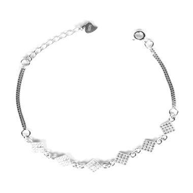 Dparis Square Silver Bracelet       ...