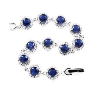 Dparis Studded Eye Blue Bracelet    ...