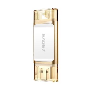 Jual EAGET i60 USB 3.0 to Lightning OTG U-Disk - Champagne [64 GB] Harga Rp 950000. Beli Sekarang dan Dapatkan Diskonnya.