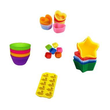 ECHODESIGN Silicone Muffin Cup Cupc ... Cetak Kue [12 pcs/2 pack]