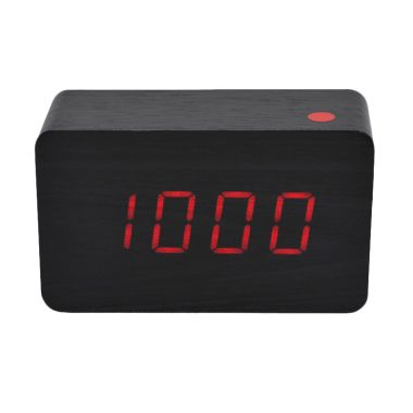 Ecolife Digital Wooden Clock - Blac ...