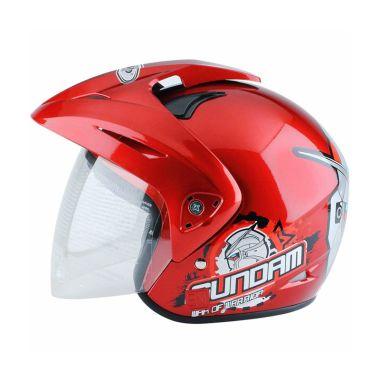WTO Helmet Kids Pet Gundam 3 Merah ...