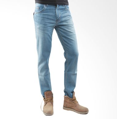 2ndRED Slim Fit 133233 Wisker Spray Light Blue Celana Panjang Jeans Pria
