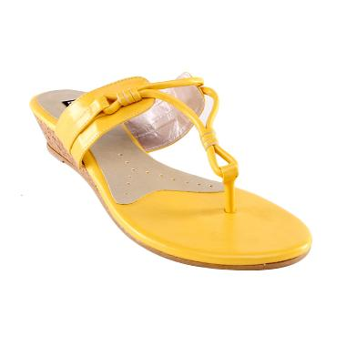 Eltaft Wedges SW759 Yellow Sandals Wanita